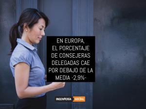 EN EUROPA, EL PORCENTAJE DE CONSEJERAS DELEGADAS CAE POR DEBAJO DE LA MEDIA