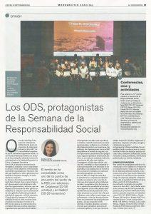 la Vanguardia - Los ODS y la Semana de la Responsabilidad Social